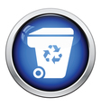 Garbage container recycle sign icon vector image vector image