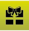 gift icon design vector image vector image