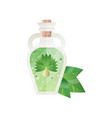 glass bottle of essential oil spa design element vector image