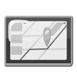 GPS map icon gray monochrome style vector image vector image