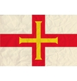 guernsey paper flag vector image vector image