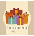 happy merry christmas icon vector image vector image