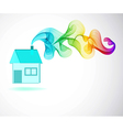 House icon and Color abstract wave vector image