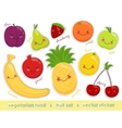 image of labels vegetarian food cheerful vector image vector image