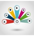 Imfographic with multimedia player buttons vector image vector image