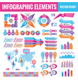 infographic elements template collection vector image