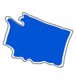 isolated map of the state of washington vector image vector image