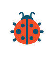 ladybug with dots creature vector image