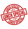 lunch special round red grunge stamp vector image vector image