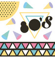 memphis style pattern design 80 retro fashion vector image