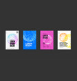 minimal covers posters set with abstract future vector image vector image