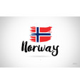 norway country flag concept with grunge design vector image