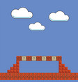 old game background classic retro arcade pixel vector image vector image