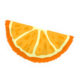 orange slice icon cartoon style vector image