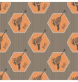 Pattern on the subject of bees and honey 2 vector image vector image