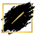 pen sign golden icon at vector image vector image