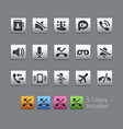 phone calls interface icons - satinbox series vector image vector image