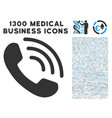 phone ring icon with 1300 medical business icons vector image vector image