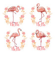 pink flamingo isolated on white background vector image vector image