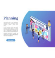 planning business strategy web page with text vector image vector image