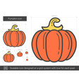 pumpkin line icon vector image