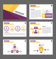 Purple yellow presentation templates Infographic vector image vector image