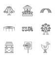 Rides icons set outline style vector image vector image