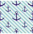 Seamless pattern with anchor on background and vector image vector image