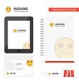 smiley emoji business logo tab app diary pvc vector image