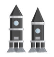 spaceship set vector image