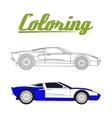 sport car - Coloring book vector image vector image
