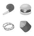 sport decoration and other monochrome icon in vector image