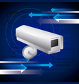 surveillance camera computer folder security vector image