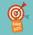 target sale3 resize vector image vector image