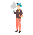 teenager holding vape or vaporizer vector image