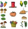 Thanksgiving set element on doodles vector image vector image