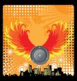urban grunge speaker design vector image