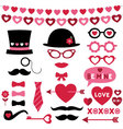 valentine photo booth and scrapbooking set vector image vector image