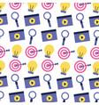 video target bulb video social media vector image vector image