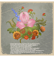 Vintage background with the image of a bouquet vector image