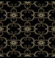 vintage gold arabesque floral seamless pattern vector image