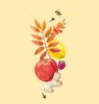 watercolor autumn floral composition vector image vector image
