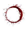 wine splash circle vector image