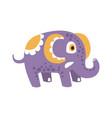 adorable cartoon elephant character posing vector image