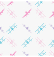 seamless background with aircraft vector image