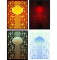 4 vintage templates vector image