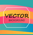 abstract colored background with waves pattern vector image vector image