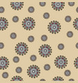 abstract seamless pattern with swirls on beige vector image vector image
