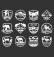 animals hunting club hunt open season icons vector image vector image