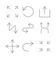 arrows set arrow for website and app vector image vector image
